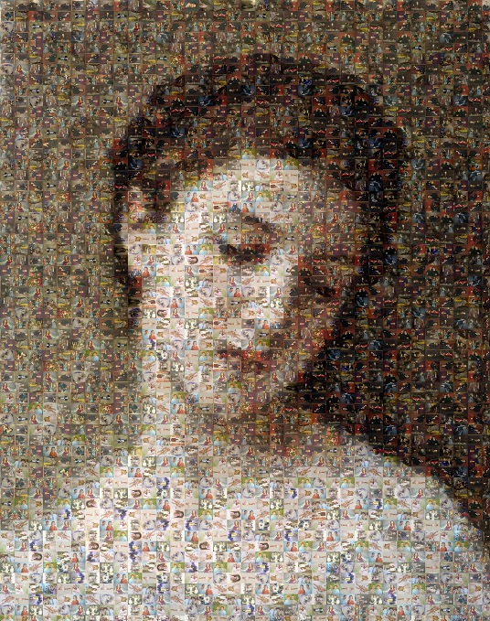 мозаика из мелких фотографий
